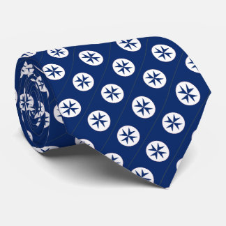 BLUE CORSAIR STYLE octagon cross Neck Tie