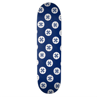 BLUE CORSAIR STYLE octagon cross Skateboard