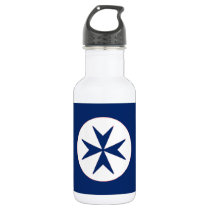 BLUE CORSAIR STYLE octagon cross Stainless Steel Water Bottle