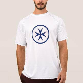 BLUE CORSAIR STYLE octagon cross T Shirt