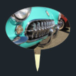 """Blue Corvette ~ Cake Topper<br><div class=""""desc"""">Any old car buff will love this. A pretty baby blue Corvette sparkling in the summer sun ready for a drive.   Car89</div>"""