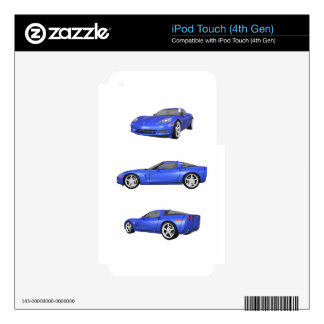 Blue Corvette: iPod Touch 4G Skins