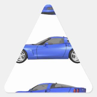 Blue Corvette: Triangle Sticker
