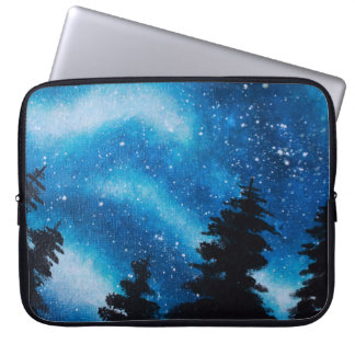 Blue Cosmic Forest Laptop Sleeve