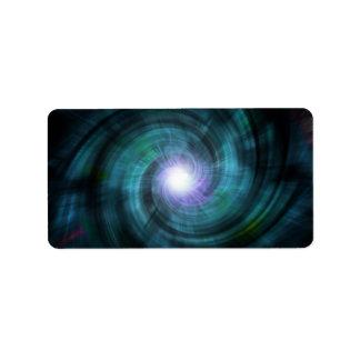 Blue Cosmic Twirl Address Label