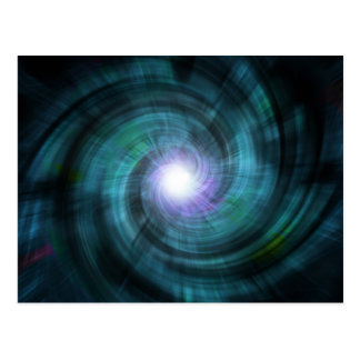 Blue Cosmic Twirl Postcard
