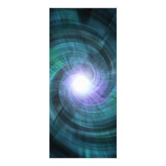 Blue Cosmic Twirl Rack Card Template