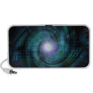 Blue Cosmic Twirl Mini Speakers
