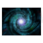 Blue Cosmic Twirl Stationery Note Card