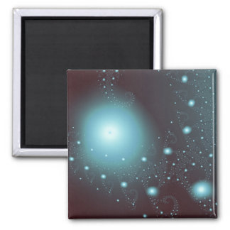 Blue Cosmos 2 Inch Square Magnet