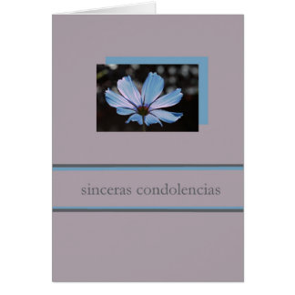 blue cosmos spanish sympathy card