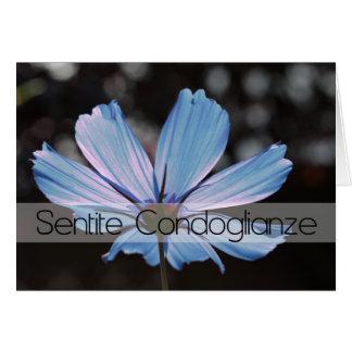 Blue cosmos sympathy card italian