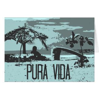 Blue Costa Rica Pura Vida Surfer Card