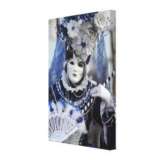 Blue Costume Canvas Print