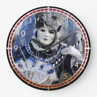 Blue Costume Large Clock