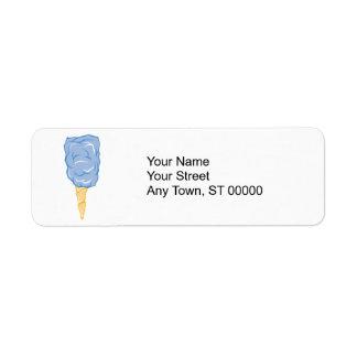 blue cotton candy label