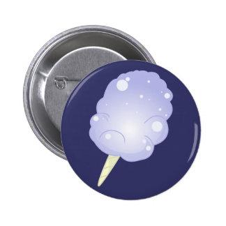 Blue Cotton Candy Pinback Button