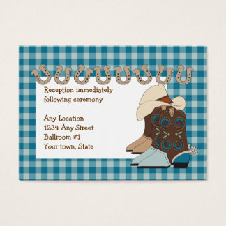 Blue Country Western Reception Cards