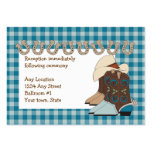 Blue Country Western Reception Cards Business Card Templates