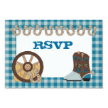 Blue Country Western RSVP Card Announcements