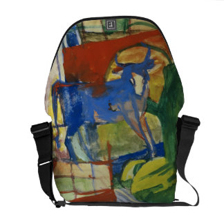 Blue Cow, 1914 (tempera on paper) Messenger Bags