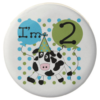Blue Cow 2nd Birthday Dipped Oreos