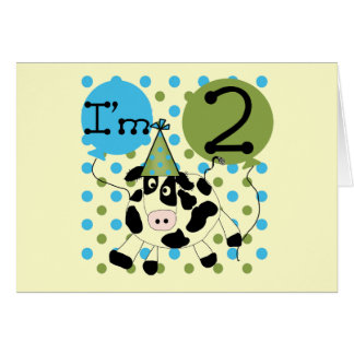 Blue Cow 2nd Birthday Tshirts and Gifts Card