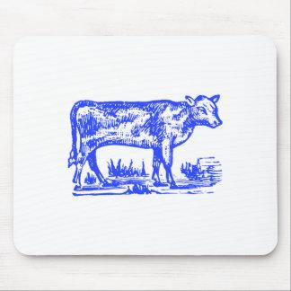 Blue Cow Mouse Pad