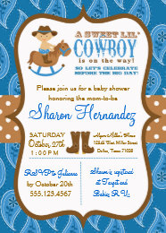 Cowboy baby shower invitations announcements zazzle blue cowboy baby boy shower invitation filmwisefo Images