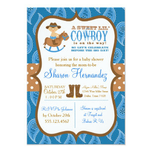 Cowboy Baby Shower Invitations Announcements Zazzle