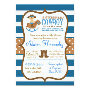 Cowboy Baby Shower Invitations Zazzle