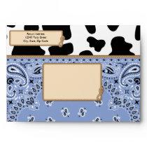 Blue Cowboy, Bandana Style A7 Envelopes