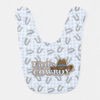 Blue Cowboy Horseshoes Baby Bib