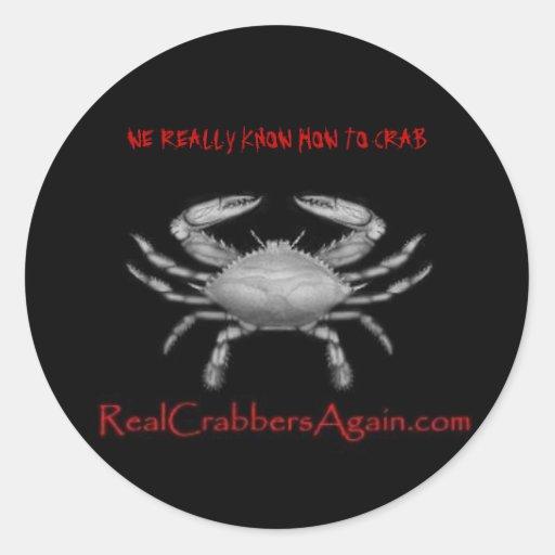 blue_crab2, SABEMOS REALMENTE CRITICAR Pegatina Redonda