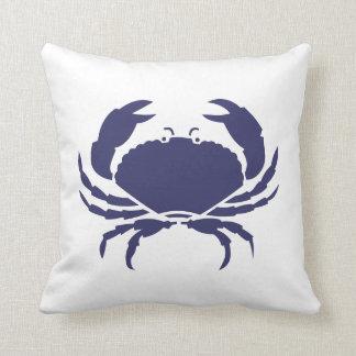 Blue Crab ~ Beach House Throw Pillow