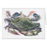 Blue Crab Blank Card