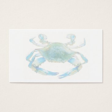 Professional Business Blue Crab Business Card