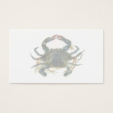 Professional Business Blue Crab Business Card 2