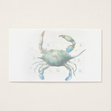 Professional Business Blue Crab Business Card 3