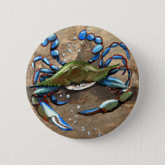 Blue Crab Button