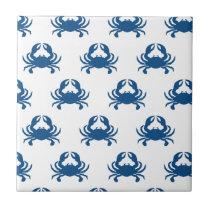 Blue Crab Ceramic Tile Coaster