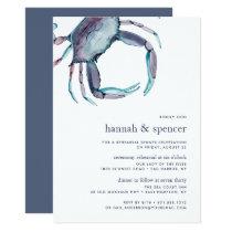 Blue Crab Ceremony Rehearsal Dinner Invitation
