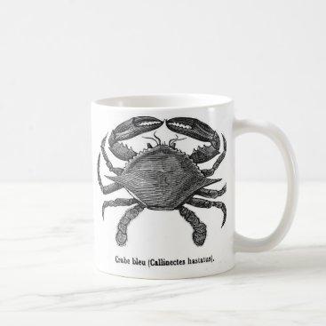 Coffee Themed Blue Crab Coffee Mug