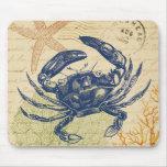 Blue Crab Collage Mousepad