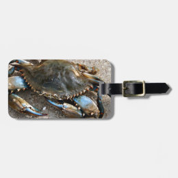 Blue Crab Crawling Bag Tag