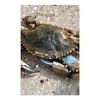 Blue Crab Crawling Stationery