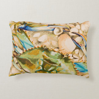 Blue Crab Decorative Pillow