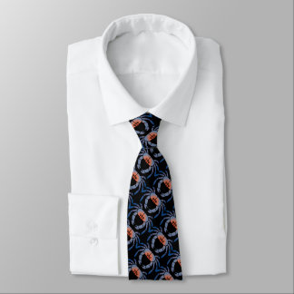 Blue Crab Design Men's Tie