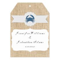Blue Crab Destination Wedding Invitations