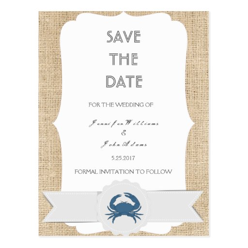 blue crab destination wedding save the date cards zazzle